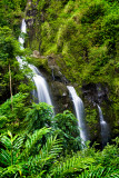 Three bears waterfall in Hana RD-592