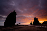 Sea Stacks Sunset