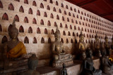 Thousands of niches with small Buddha figurines