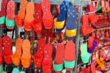 Colorful wooden terompah