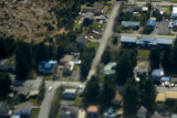 Our house (fuzzy) from the air