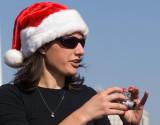 Lady in Santa Hat