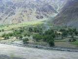 Pyanj river, border with Afghanistan