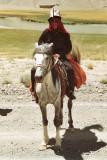 Herdsman wearing a kalpak, the traditional Kyrgyz hat