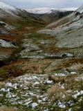snow sprinkled valley.