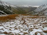 snowy valley.