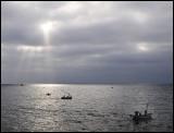 Sunrise over Maputo bay, Mozambique