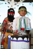 Apache Dancer & Little boy with drum