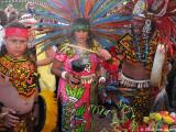 Aztec dancers at unveiling