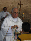 Archbishop Shehan at outdoor mass