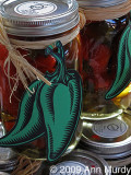 Jars of chiles