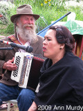 Michael Combs & singer at Fiesta party