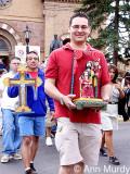 Arthur Lopez in procession