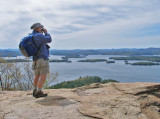 At the Peak - Overlooking Squam Lake
