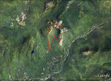 Hiking Track Shown on Google Earth Image