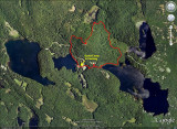 Mt. Shannon Hike Track on Google Earth Image