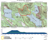Mt. Shannon Hike Track on Topographical Map