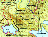 Small Section of Dave Roberts' Belknap Range Trail Map