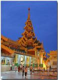 At the Shwedagon Pagoda