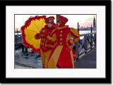 Masks Couple at Waterfront
