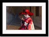 Red and White Mask at Palazzo Ducale