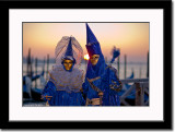 Two Blue Masks at Sunrise