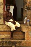 Priest at Sri Padmanabhaswamy temple.jpg