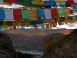 Prayer flags at Ganden