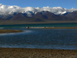 Lone person Lake Namtso