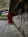 Monk doing the kora