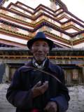 Pilgrim at Gyantse kumbum