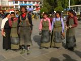 Group of pilgrims in Lhasa