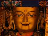 Golden buddha face 1
