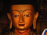 Golden buddha face 2