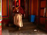 Pilgrim in doorway