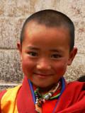 Portrait of a child monk