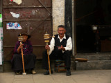 Supported by prayer wheels