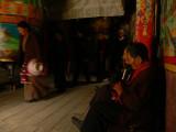 Prayer wheel house in Litang