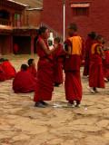 Two monks talking