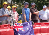 Australian supporters of Bradley McGee