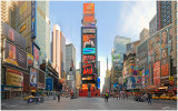 A Cold Winter Morning In Times Square Wallpaper