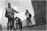 Riding the Brooklyn Bridge