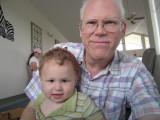 Aidan GrandPa GrandMa playing - Houston TX 06-27-09