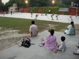 Watching the big kids roller skate