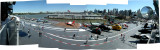 A view of the Intrepid's flight deck from above