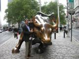 Dad and Rahil at the Wall Street Bull