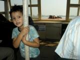 Aboard the ferry.