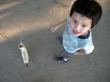 The day's highlight:  finding a friendy kitten