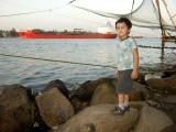 Along the Kochi waterfront at evening