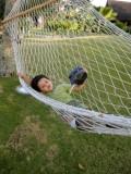 In a hammock at the Zuri Resort in Kumarakom